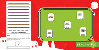 What's on the Tray? Christmas Dinner Memory Activity Pack - Visual Stimulus, Visual Memory, Auditory Processing Disorder, Deafness, What's On The Tray, Memory