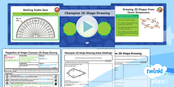 PlanIt Maths Y6 Properties of Shapes Lesson Pack 2D Shape Drawing (2)
