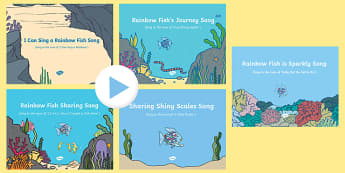 Songs and Rhymes PowerPoints Pack to Support Teaching on the Rainbow Fish