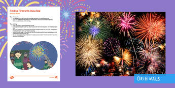 Finding Fireworks Busy Bag Resource Pack for Parents - bonfire night, fireworks, sparks in the sky, coloured sand, mark making, toddler activity, toddler p