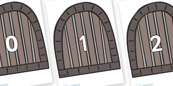 Numbers 0-31 on Jail Cells - 0-31, foundation stage numeracy, Number recognition, Number flashcards, counting, number frieze, Display numbers, number posters