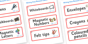 Magnolia Tree Themed Editable Writing Area Resource Labels - Themed writing resource labels, literacy area labels, writing area resources, Label template, Resource Label, Name Labels, Editable Labels, Drawer Labels, KS1 Labels, Foundation Labels, Fou