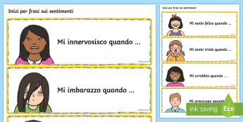 Inizi per Frasi sui Sentimenti - Sentimenti, emozioni, frasi, assemblea, elementari, italian, italiano