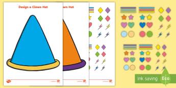 Design a Clown Hat Activity - circus, circus craft, juggler, ringmaster, acrobat,