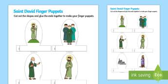 St. David's Day Story Finger Puppets - St David's Day, Role Play, role play, st david, st, st David, Saint David, Saint David's Day, orac