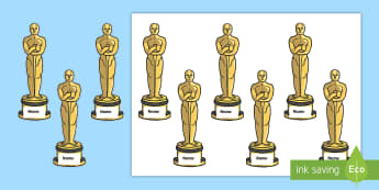 Hollywood Walk of Fame Editable Oscar Awards Cut-Outs - transition, photo booth, end of year, year 6 leavers, leaving