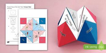 Faire Present Tense Fortune Teller - French, Fortune Teller, faire, present, tense, conjugation,French