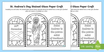 St Andrew's Day Stained Glass Paper Craft-Scottish