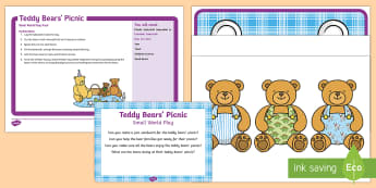 Teddy Bears' Picnic Small World Play Idea and Printable Resource Pack - bears, teddybear, messy play, Imaginative play, small world, food play, sandwiches