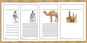Early Islamic Civilization Writing Frames - islam, history