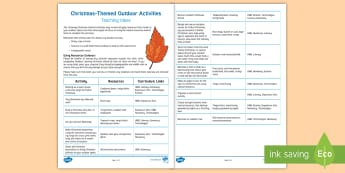 Christmas-Themed Outdoor Activities Teaching Ideas - Forest, School, Learning, Woodland, Winter,,Scottish