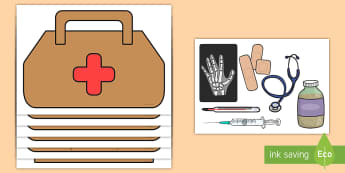 Doctor's Bag Role-Play Pack - role play, doctor, bag, activity, stethoscope, band aids, syringe