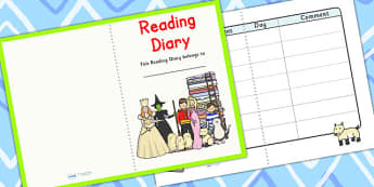 Reading Diary - education, home school, free, learning, journal