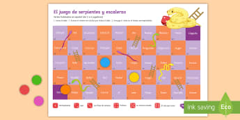High Frequency Spanish Verbs Snakes and Ladders Board Game Spanish - Spanish, Grammar, high, frequency, verbs, snakes, ladders, game, board, conjugating, tenses, activit