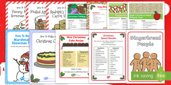 CFE First Level The 12 Bakes of Christmas Resource Pack - Christmas baking, Christmas crafts, Christmas activities, Christmas Bake off, Christmas fayre ideas