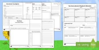 Somervakansie Huiswerk Aktiwiteit Pakket - seisoene, weer, warm, vakansie, geletterdheid, skryfwerk, skryf