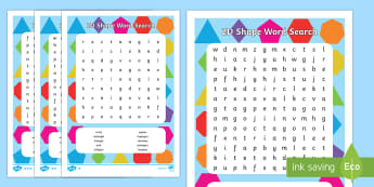 2D Shape Word Search
