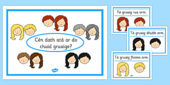 Hair Colour Posters Gaeilge - hair colour, posters, display, hair, colour, roi, irish