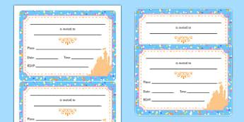 Cinderella Party Invitation - cinderella, party invitation, party, invitation
