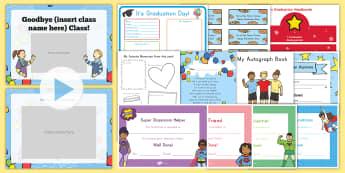 Kindergarten Graduation Resource Pack - End of school year, end of year, end of school, graduation, kindergarten graduation, kindergarten di