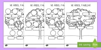 Ficha de actividad: Mi árbol genealógico  - ficha, ficha de actividad, árbol genealógico, árbol familiar, árbol, familia, parientes, padres,