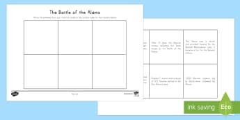 Battle of the Alamo Timeline Worksheet / Activity Sheets - United States History, State history,  Texas, Alamo, Battle of the Alamo, Santa Anna, Sam Houston, T