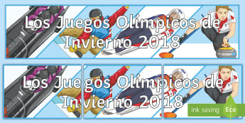 Winter Olympics 2018 Display Banner Spanish - sports, game, classroom, organisation, decoration, display, poster,