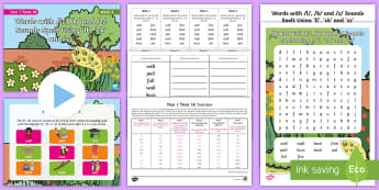 Year 1 Term 1A Week 2 Spelling Pack - Spelling Lists, Word Lists, Autumn Term, List Pack, SPaG