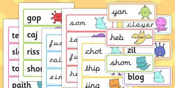 Phase 5 Flashcards Nonsense Words - phase 5, flashcards, words