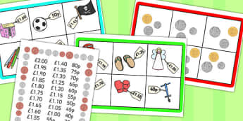 Toyshop Bingo Up to 2 Pounds - money, pound, game, activity