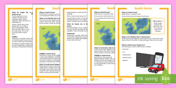 KS1 South Korea  Differentiated Fact File - Winter Olympics, Year 1, Year 2, Reading, Geography, Asia