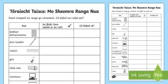 Tóraíocht Taisce: Mo Sheomra Ranga Nua - Classroom Management, Bainistiú, Bainistíocht, Ar Ais Ar Scoil, Back To School, Tús Na Bliana, St