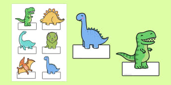 Editable Dinosaurs Labels - dinosaur, labels, editable labels