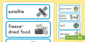 Space Station Role Play Labels - Space, space station, role play, label, labels