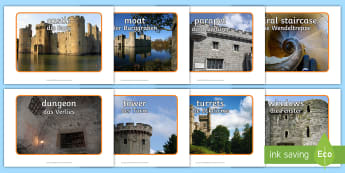 Castle Photo Pack English/German  - middle ages, medieval, castles, display, EAL, German