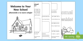 * NEW * EAL Starter Welcome to Your New School Booklet - English / Spanish - EAL Starter Welcome to Your New School Booklet - New, School, EAL,Spanish-translation