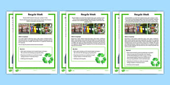 KS1 Recycle Week Differentiated Fact File