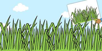 Large Grass Cut Outs - large, grass, cut outs, display, cut