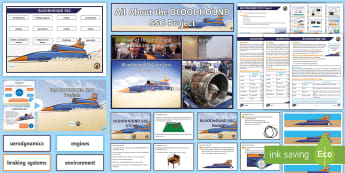 UKS2 BLOODHOUND Bumper Assembly Pack - Bloodhound, SSC, Supersonic, STEM, display, pack, bumper pack, Challenge, Problem Solving, Problems,