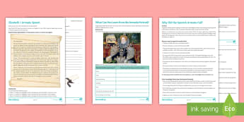 The Spanish Armada Differentiated Activity Pack - Spanish Armada, Elizabeth, Philip II, Spain, fireships