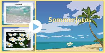 Sommerfotos PowerPoint - Sommerfotos, PowerPoint, Präsentation, Folien, Sommer, Ferien, Sommerferien, große Ferien, Sommerz
