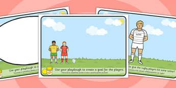 Rugby Playdough Mats Romanian Translation - romanian, rugby, playdough mats