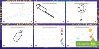 Elemente grafice pe tema Anului Nou Fișe de activitate - Anul nou, noul an, activități manuale,rezoluții, promisiuni, activități de sărbători,Romanian