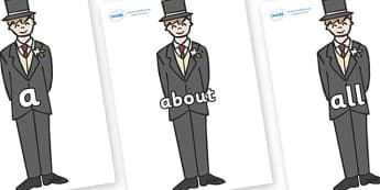 100 High Frequency Words on Grooms - High frequency words, hfw, DfES Letters and Sounds, Letters and Sounds, display words