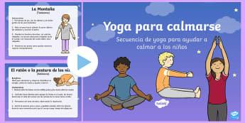 Yoga para calmarse - yoga para niños, relajarse, calmarse, yoga para calmarse