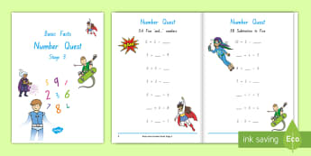 Stage 3 Number Knowledge Quest Maths Activity Booklet - Number Knowledge, Quest Booklets, home learning, home connection, stage 3, basic facts, homework, nu
