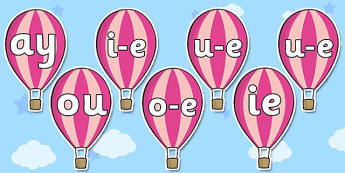 Phase 5 Phonemes on Hot Air Balloons - phase 5, phonemes, balloon