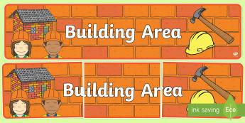Building Area Display Banner - building, area, building area, display, banner, display banner, themed banner, themed header, headers, display header