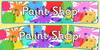 Paint Shop Role Play Display Banner - paint shop, role-play, display banner, display, banner
