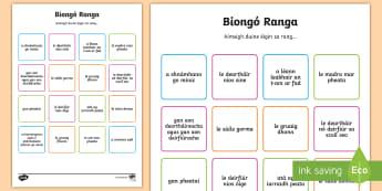 Cluiche Biongó: Fáilte ar Ais - Classroom Management, Bainistiú Ranga, Bainistíocht Ranga, Ar Ais Ar Scoil, Back To School, Ardran
